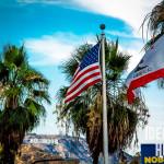 Флаг Америки и Калифорнии