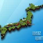 Карта путешествия по Японии